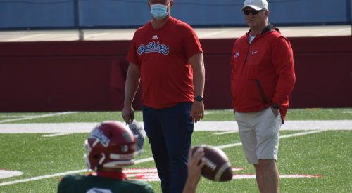 Spring ball review: Tedford visits practice, secondary improves article thumbnail mt-3