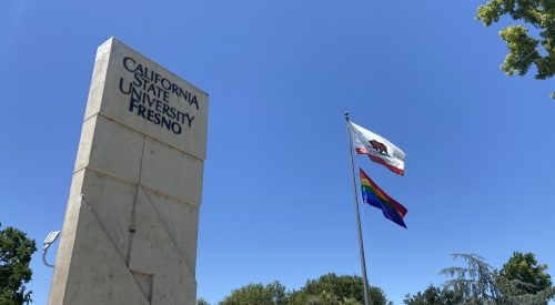 Fresno State raises rainbow flag on campus in celebration of Pride Month article thumbnail mt-2