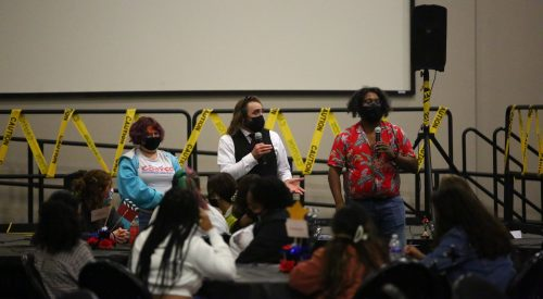 Improv group hosts murder mystery to help students de-stress article thumbnail